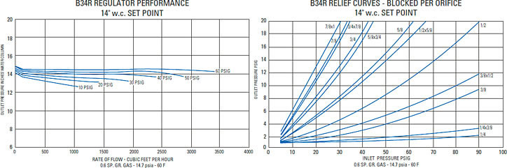 Performance Chart and Relief Curves